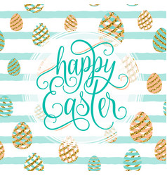 cute happy easter greeting vector image vector image