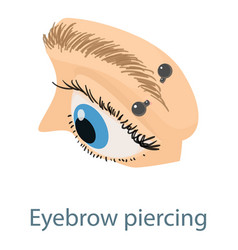Eyebrow piercing icon isometric 3d style vector