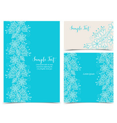 Floral greeting cards vector
