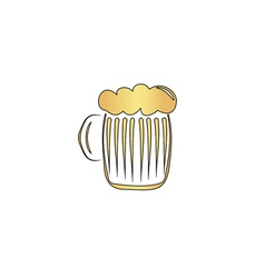 Foamy beer computer symbol vector