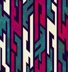 grunge tribal geometric seamless pattern vector image