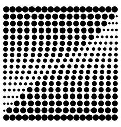 Halftone design elements square vector image
