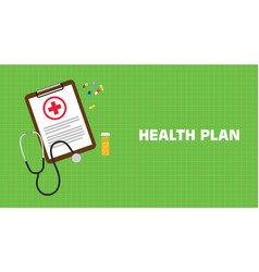 health plan with paperwork on clip vector image