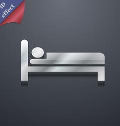 Hotel icon symbol 3D style Trendy modern design vector image