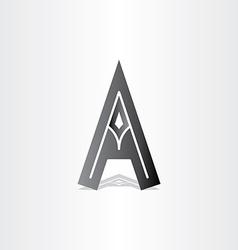 letter a black icon design vector image vector image