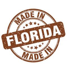 Made in florida brown grunge round stamp vector