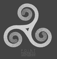 Of abstract dotted symbol triskelion vector