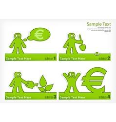 People grow money vector image vector image