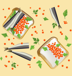Seamless pattern with breakfast vector