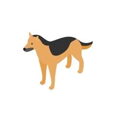 Shepherd dog icon isometric 3d style vector image vector image