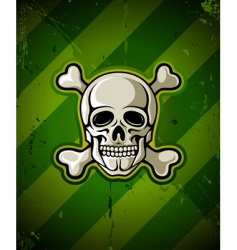 skull and skeleton bones vector image vector image