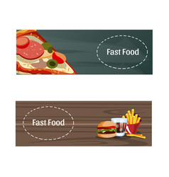 two banner with fast food vector image