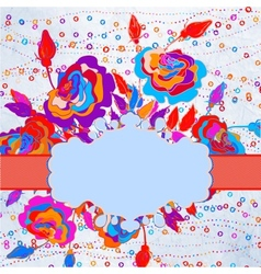 Abstract floral background EPS 8 vector image
