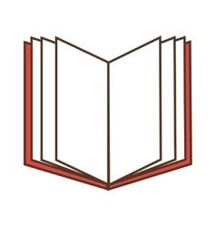 open book read vector image