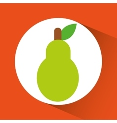 Pear inside circle design vector