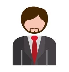 Half body man formal suit gray vector