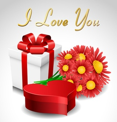 Valentine gift set vector image