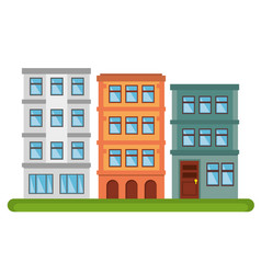 City landscape buildings icon vector