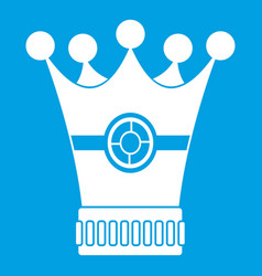 Medieval crown icon white vector