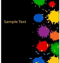 Multicolored paint spots vector