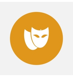Theatrical masks icon vector