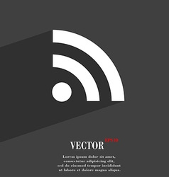 Rss feed icon symbol flat modern web design with vector