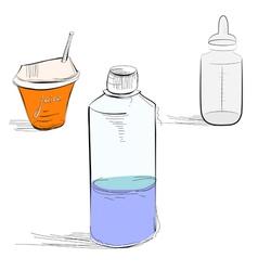 bottle sketch vector image