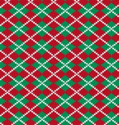 Knit argyle pattern vector
