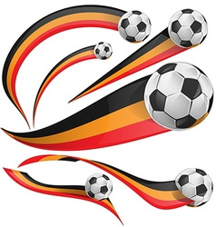 Belgium flag set with soccer ball vector