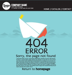 Page Not Found Error 404 vector image
