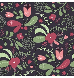 seamless beautifull pattern with flowers vector image