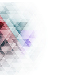 Abstract colorful triangles geometric background vector