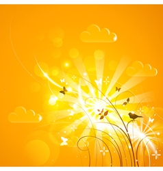 Bright sunny background vector image vector image