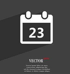 calendar page symbol Flat modern web design with vector image