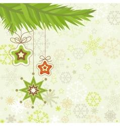 Christmas tree star ornaments vector image vector image