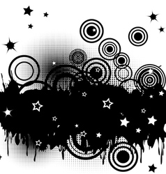 Circles and stars vector image vector image