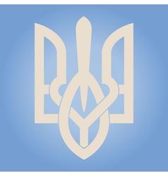 Decorative ukrainian trident vector