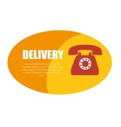 Delivery service telephone design icon vector