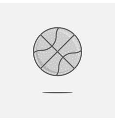 Dribbling Basketball Ball Logo vector image vector image