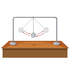 Gravity ball swinging on table vector