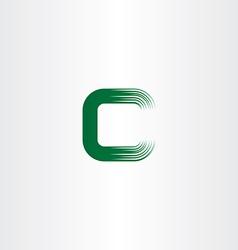 Green c letter logotype sign vector