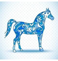 Horse with wings vector image vector image