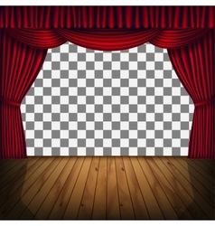 Red curtain stage vector