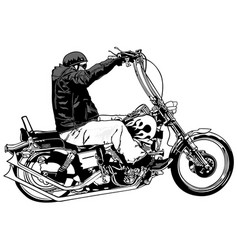 rider on chopper vector image