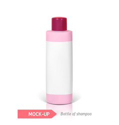 small bottle of shampoo vector image