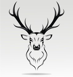 Tribal Deer Head vector image vector image
