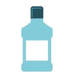Mouthwash bottle isolated icon vector