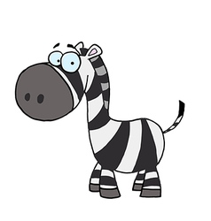 Cute cartoon zebra vector