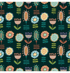 Seamless pattern with lots of flowers vector