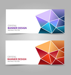 Colorful polygonal abstract banner vector